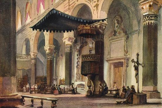 'Interior of Cathedral, San Remo', c1870-Alfred Waterhouse-Giclee Print