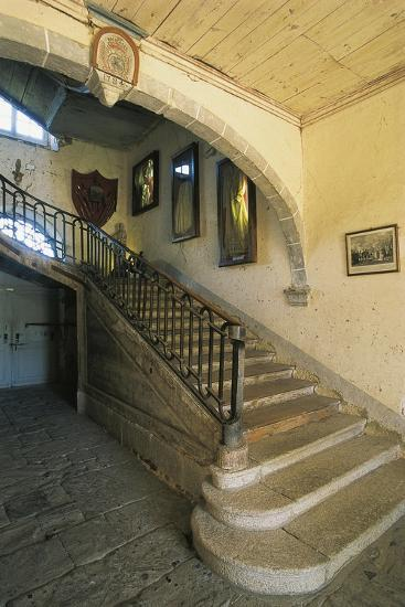 Interior of Chassan Castle, Faverolles, Auvergne, France--Giclee Print