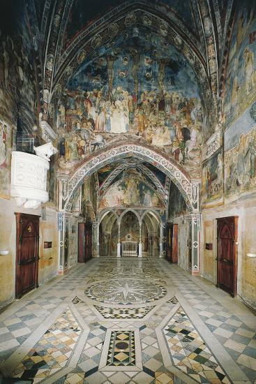 Interior of Church in Sacro Speco Monastery, Subiaco, Italy, 12th Century--Giclee Print