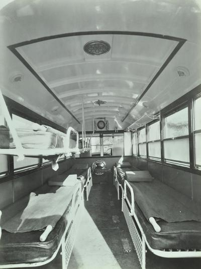 Interior of Coach Type Ambulance, Western Ambulance Station, Fulham, 1935--Photographic Print