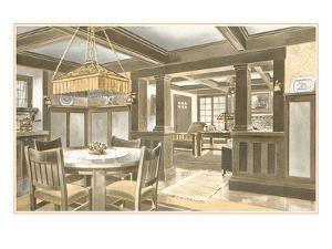 Interior of Craftsman House