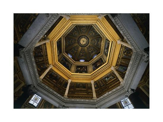 Interior of Dome of Lateran Baptistery, St John Lateran's Archbasilica, Rome, Italy, 5th Century--Giclee Print