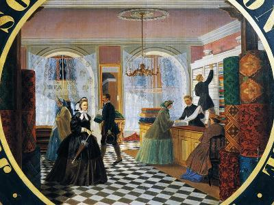 Interior of Drapery Store--Giclee Print