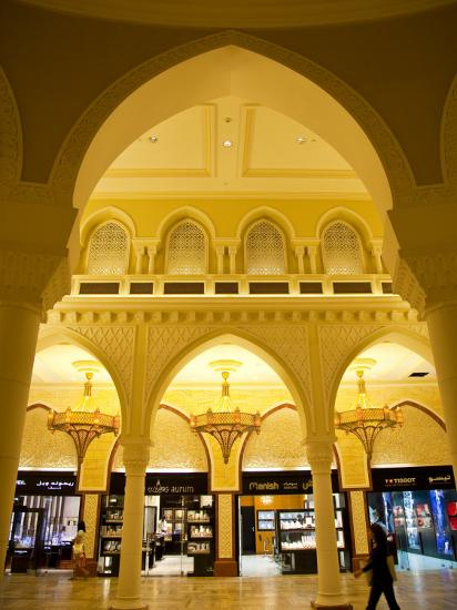 Interior of Dubai Mall Shopping Centre-Richard l'Anson-Photographic Print