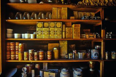 Interior of General Store with goods on shelves in Ghost Town near Virginia City, MT--Photographic Print