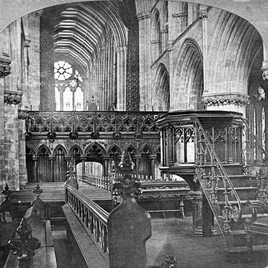 Interior of Glasgow Cathedral, Scotland, Late 19th Century-Underwood & Underwood-Giclee Print