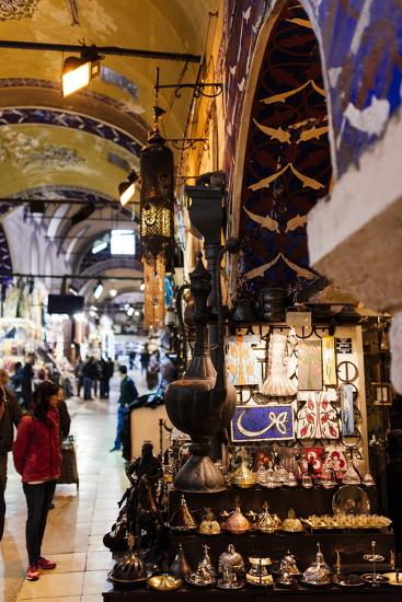 Interior of Grand Bazaar (Kapali Carsi), Istanbul, Turkey-Ben Pipe-Photographic Print