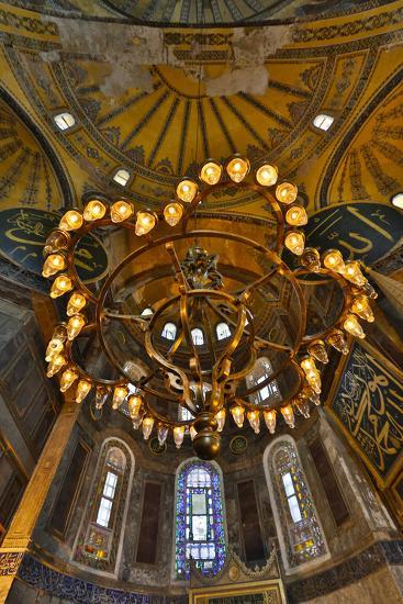 Interior of Grand Haghia Sophia, Istanbul, Turkey-Darrell Gulin-Photographic Print