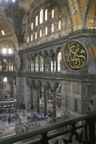 Interior of Hagia Sophia (6th-16th Century), Istanbul (Unesco World Heritage List, 1985), Turkey--Photographic Print