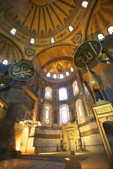 Interior of Hagia Sophia (Aya Sofya Mosque) (The Church of Holy Wisdom)-Neil Farrin-Photographic Print