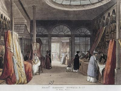 Interior of Harding Howell E Company's Variety Store in London, 1809--Giclee Print