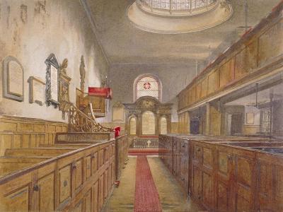 Interior of Holy Trinity, Minories, London, 1881-John Crowther-Giclee Print