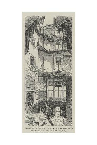 Interior of House, in Langhorne Gardens, Folkestone, after the Storm--Giclee Print