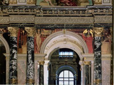 Interior of Kunsthistorisches Museum, Vienna, Figures of Ancient Greece and Ancient Egypt-Gustav Klimt-Giclee Print