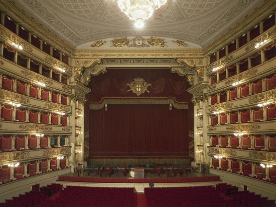 Interior of La Scala Opera House--Giclee Print
