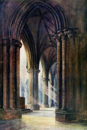 Interior of Lincoln Cathedral, 1924-1926-FP Dickinson-Giclee Print