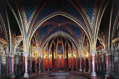 Interior of Lower Chapel, Sainte-Chapelle, 1246-1248, Paris, Ile-De-France, France, 13th Century--Photographic Print