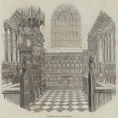 Interior of Luton Chapel--Giclee Print