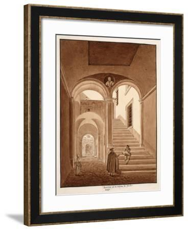 Interior of Michelangelo's House, 1833-Agostino Tofanelli-Framed Giclee Print