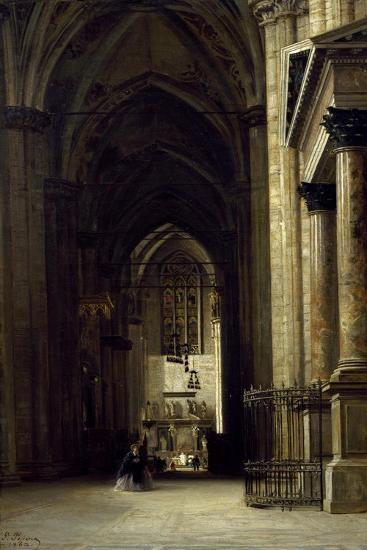 Interior of Milan Cathedral, 1862-Giovanni Pessina-Giclee Print