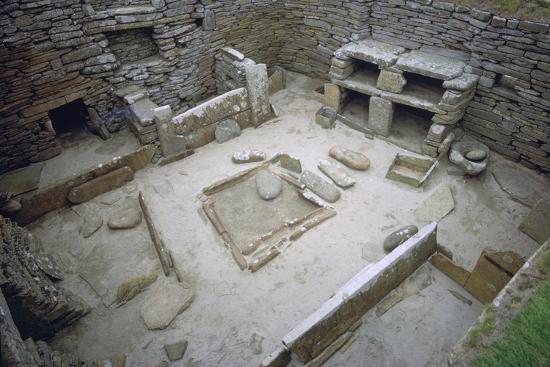 Interior of Neolithic Hut. Artist: Unknown-Unknown-Photographic Print
