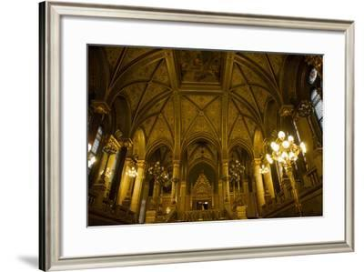 Interior of Parliament Building. Budapest. Hungary-Tom Norring-Framed Photographic Print