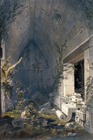 Interior of Principal Building at Kabah, from 'Views of Ancient Monuments in Central America,…-Frederick Catherwood-Giclee Print