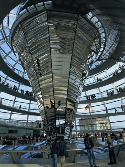 Interior of Reichstag Building, Designed by Norman Foster, Berlin, Germany, Europe-Morandi Bruno-Photographic Print