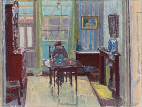 Interior of Room at 6 Cambrian Road, Richmond, 1914-Spencer Frederick Gore-Premium Giclee Print