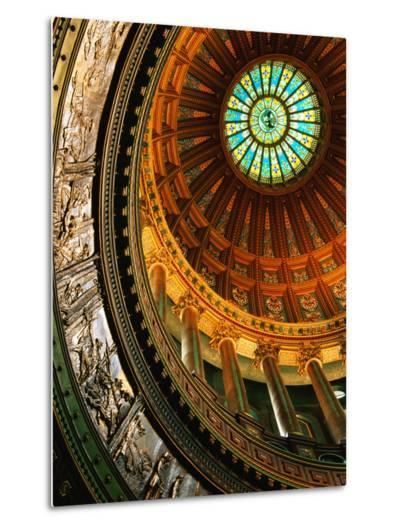 Interior of Rotunda of State Capitol Building, Springfield, United States of America-Richard Cummins-Metal Print