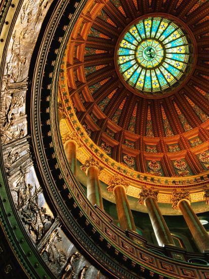 Interior of Rotunda of State Capitol Building, Springfield, United States of America-Richard Cummins-Photographic Print