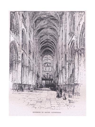 Interior of Rouen Cathedral--Giclee Print