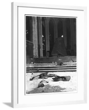 Interior of Saint-Eloi Church in Dunkirk, 1915-Jacques Moreau-Framed Photographic Print
