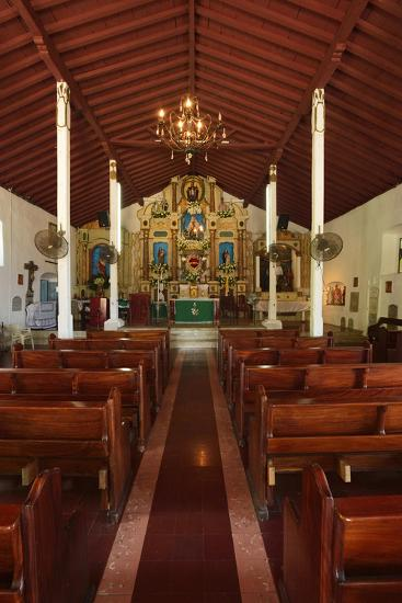 Interior of San Pedro Church on Taboga Island-Jonathan Kingston-Photographic Print