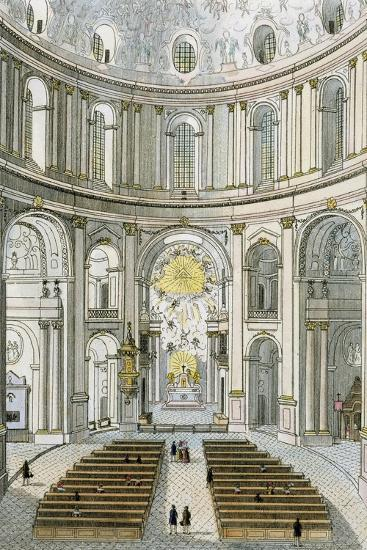 Interior of St. Charles' Church in Vienna, Austria--Giclee Print