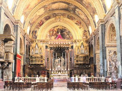 Interior of St Johns Co-Cathedral, Valletta, Malta-Peter Thompson-Photographic Print