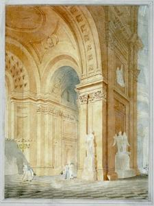 Interior of St Paul's Cathedral, City of London, 1836
