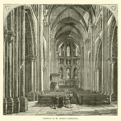 Interior of St Peter's Cathedral--Giclee Print