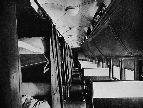 'Interior of Standard Sleeper, Canadian Pacific Railway', 1926-Unknown-Photographic Print