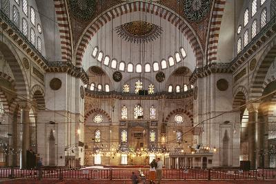 Interior of Suleymaniye Mosque--Photographic Print