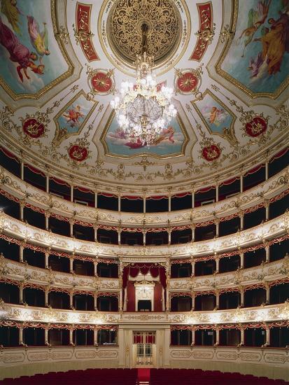 Interior of Teatro Municipale, Reggio Emilia, Emilia-Romagna, Italy--Giclee Print