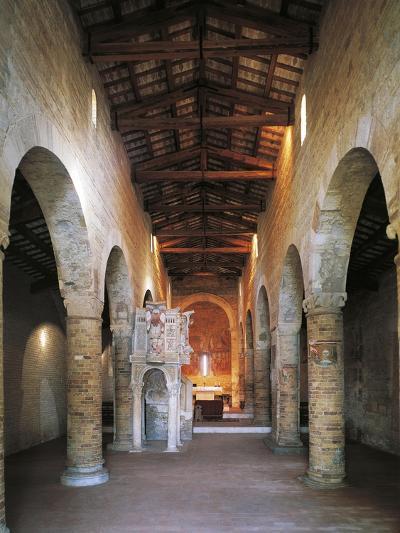 Interior of the Abbey of Santa Maria Del Lago, Moscufo, Abruzzo, Italy--Giclee Print