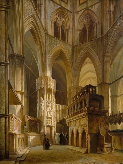 Interior of the Abbey of Westminster, 1853-Giovanni And Bertini, Giuseppe Brocca-Giclee Print