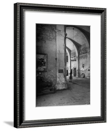 Interior of the Alamo--Framed Premium Photographic Print