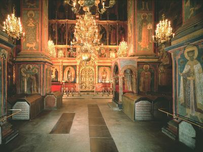 Interior of the Archangel Michael Cathedral in the Moscow Kremlin, 1679-1681--Photographic Print