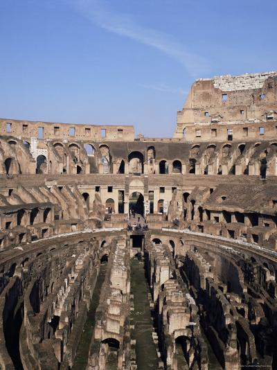 Interior of the Arena and the Cavea, Colosseum, Rome, Lazio, Italy-Adina Tovy-Photographic Print