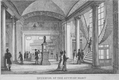 Interior of the Auction Mart in Bartholomew Lane, City of London, 1835--Giclee Print