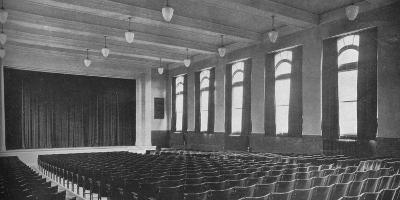 Interior of the auditorium, David Worth Dennis Junior High School, Richmond, Indiana, 1922--Photographic Print
