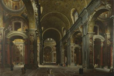 Interior of the Basilica of Saint Peter in Rome, before 1742-Giovanni Paolo Panini-Giclee Print