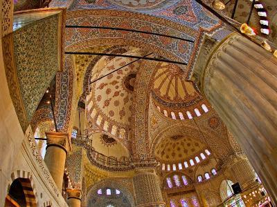 Interior of the Blue Mosque, Istanbul, Turkey-Joe Restuccia III-Photographic Print